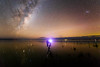 Robot overlords (robjdickinson) Tags: water nature sky lake landscape reflection astronomy night galaxy space outdoor atmosphere astronomicalobject aurora canterbury christchurch ipano outerspace universe astro astrophotography