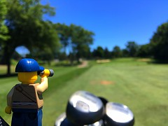 How many yards? (200/365) (robjvale) Tags: sport relax bag clubs fairway green golf iphone project365 lego adventurerjoe