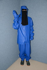 Rainwear Sweat Outfit (Warm Clothes Fetish) Tags: rainwear sweat outfit slave girl torture hijab niqab warm boots pvc rain