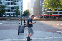 DSCF5303 (amsfrank) Tags: amsterdam zuidas cirlce candid summer morning