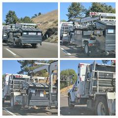 Edco Dumpster Hauler Collage 7-24-18 (Photo Nut 2011) Tags: california garbage garbagetruck trashtruck sanitation wastedisposal refuse waste trash junk sandiego dumpster edco
