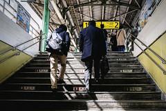 Tokyo Train station. (Andy @ Pang Ket Vui ( shootx2 )) Tags: fujifilm x100f tokyo street train station stairs shadow morning work