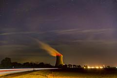 Nuclear nights (Notkalvin) Tags: davisbesse nuclear coolingtower outdoors reactor steam stars night longexposure field ohio nuclearreactor energy cleanenergy radioactive meltdown power starrysky