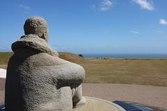 Set Fair For Flying (geedub611) Tags: cloud coast sea sky sculpture statue memorial war ww2 pilot