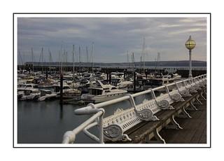 Seats along the Pier