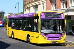 Alexander-Dennis Enviro200 Dart (DennisDartSLF) Tags: bournemouth bus alexanderdennis enviro200 dart enviro 524 yellowbuses yx12aeu