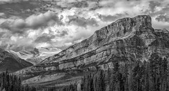 Shades of Gray (Philip Kuntz) Tags: mtwilson mtwilsonmassif blackandwhite bw monochrome saskatchewancrossing banff alberta canada canadianrockies