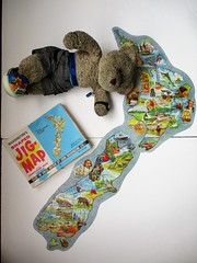 New Seelund (pefkosmad) Tags: jigsaw puzzle vintage complete hobby leisure pastime secondhand used waddingtons placenamequiz jigmap tedricstudmuffin teddy ted bear animal toy cute cuddly soft stuffed plush fluffy