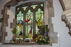 Keelby, St Bartholomew. (Pam & Bryan) Tags: keelby lincolnshire stbartholomew stainedglass stpeter stjames goodshepherd