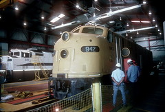 UP 942 trip to Metrolink Jun97 18 (jsmatlak) Tags: union pacific 942 e8 e unit train railroad orange empire railway museum locomotive engine metrolink