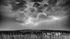 The storm rumbles (ZeGaby) Tags: blackandwhite champagne eclairs landscape lightning marne naturephotography noiretblanc orages paysage pentax2470mm pentaxk1 storm thunderstorm avenayvaldor grandest france fr