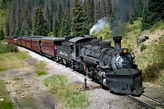 Topping Cumbres Pass (jterry618) Tags: steamlocomotive cumbrestoltecscenicrailroad chama new mexico narrow gauge cts487 k36