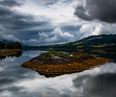 Reflections (bogroa) Tags: reflections water fjord clouds sky norway landscape fantastic nature