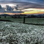 Sonnenuntergang im Winter in der Rhön thumbnail