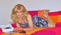 lazy blonde girl (Katvarina) Tags: crossdress crossdresser crossdressing transgender transgirl transpeople tgirl tgurl kat