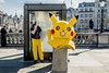 London, UK, 2017 (Luca Paccusse) Tags: street streetphotography streetphoto fujifilm fujifilmxseries city urban humour funny hot pikachu pokemon games london trafalgar uk england costume
