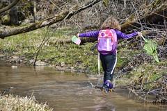 Wonder (Mulewings~) Tags: hikes awesomecreek hikingwithchildren fun funinthewoods neighborhoodchildren water spring bugcatcher