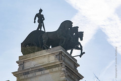 Madrid (Lucien Schilling) Tags: stone memorial building bronze landmark monument italy sculpture famous blue symbol architecture king travel city rider history sky madrid statue horse tourism europe