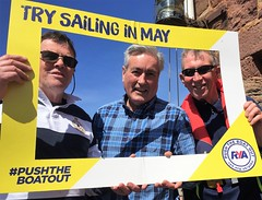 Supporting #Pushtheboatout sailing campaign