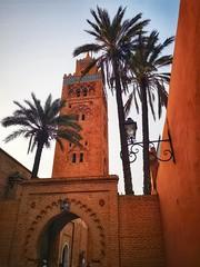 View of la Koutoubia Mosque (siasia.k) Tags: koutoubia mosque marrakech maghreb morocco palm tree