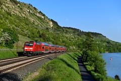 146 245 Gambach (0239n) (christophschneider1) Tags: kbs800 gambach mainspessartbahn main maintal weinberge unterfranken bayern deutschebahn dbregio 146 146245 doppelstockwagen wendezug re4628 d850