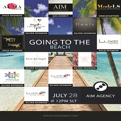 AIM - Going to the beach (Curiosse) Tags: aim modeling agency virtual secondlife models summer 2018 fashion show designs designers men women