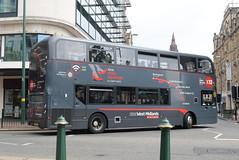 NXWM 6707 @ Priory Queensway, Birmingham (ianjpoole) Tags: national express west midlands alexander dennis enviro 400mmc yx15oyb 6707 working platinum route x12 priory queensway birmingham solihull train station