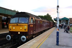 The Seaside Flyer at Chesterfield. (Chris Baines) Tags: wcr 47826 chesterfield the seaside flyer