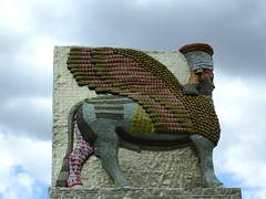 The Lamassu (failing_angel) Tags: 010518 london cityofwestminster theinvisibleenemyshouldnotexistbymichaelrakowitz fourthplinth theinvisibleenemyshouldnotexistproject lamassu wingedbull nergalgate nineveh cuneiform
