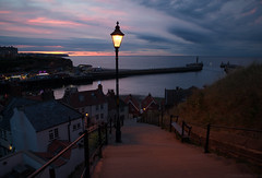 Abbey Steps, Whitby (EmPhoto.) Tags: abbeysteps the199steps whitby harbour uk yorkshire classic emmiejgee landscapepassion sonya7r bluehour