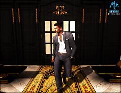 """Sharply Dressed "" (maka_kagesl) Tags: model man men sl secondlife second life maka kage virtual door wall house carpet decor game videogame gaming suit clothes clothing signature mesh avi avatar bench formal"