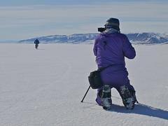 Claudio filming Kate, Carlsberg Fjord