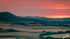 Long Man of Wilmington hill - Eastbourne (Richard French Photography) Tags: eastsussex eastbourne longmanshill walk countryside sunset sunsets southdowns landscape landscapes landscapephotography photography photographer photooftheday southeast wheat crop