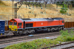66185 - Crewe - 21/07/18. (TRphotography04) Tags: db cargo uk 66185 dp world london gateway passes crewe with 4s49 1112 daventry int rft recep rfd grangemouth tdg ews