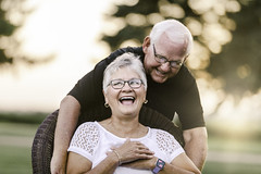 46 years together (Rebecca812) Tags: mom dad family couple seniors activeseniors happiness togetherness marriage grayhair whitehair eyeglasses lifestyles people laughter candid portrait love sunlight anniversary growingold outdoors evening grass trees rebeccanelson rebecca812 canon