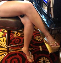 sexy legs (jemingway3) Tags: legs short shorts feet toes anklet ankle bracelet cougar swinger married mature wife hotwife lynda toe ring shared