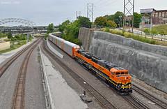 "Southbound Local in Kansas City, MO (""Righteous"" Grant G.) Tags: bnsf railway railroad locomotive bn emd power engine transfer local yard job south southbound kansas city missouri"