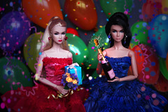 Lilith The Great Pretender & Lilith ITBE Hard Metal (ArLekin26113) Tags: lilith lillith thegreatpretender itbe hardmetal integrity fashiondoll fashionroyalty jasonwu birthday holiday celebration airballoons champagne flowers gift confetti serpentine