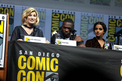 Jodie Whittaker, Tosin Cole & Mandip Gill (Gage Skidmore) Tags: jodie whittaker tosin cole mandip gill doctor who san diego comic con international 2018 convention center california