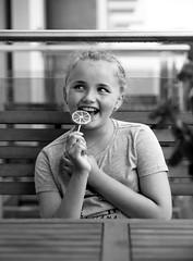 Eriell (livsillusjoner) Tags: poland reda polska girl girls young child children kid kids cute beautiful naturallight portrait people family love fun lolipop popsickle candy kjærlighet monochrome bw blackwhite blackandwhite smile smiling laugh laughing outisde outdoor