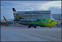 N607AS Alaska Airlines - Portland Timbers (Bob Garrard) Tags: n607as alaska airlines portland timbers boeing 737 anc panc