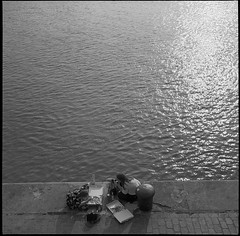 VoigtlanderSuperbHeliar-666-FP4-Ultrafin-8.50min@23-11 (photo:::makina) Tags: exportrollei sunset river pizza time ilford fp4 ultrafin for 850min 23° voigtlander superb heliar 1934 probably best tlr camera ever made