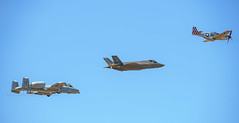Heritage Flight - Explore (August 6th, 2018 - #152) (TQTran) Tags: lukeday2018 lukeday 2018 luke day lukeairforcebase lukeafbase airforce heritageflight heritage flight a10 f35 p51 warbirdp51 warbird glendale arizona az