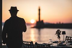 Chania Sunset (Bastian.K) Tags: kreta chania greek greece griechenland iraklio iraklion crete insel island sony fe 85mm 14 gm sunset sunrise sonnenuntergang sonnenaufgang sonne silhouette silhouet silhouett reflection reflektion reflexion spiegelung bokeh lighthouse leuchtturm leucht turm χανιά