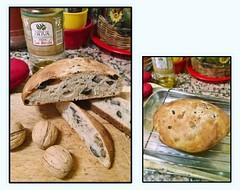 Pan de nueces, aceitunas negras y romero (marialuz_fernandez) Tags: bread pan aceitunas oliva oliveoil aceitunasnegras rosemary romero walnuts nueces