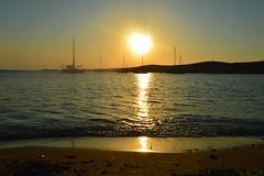 DSC_0135 (JustineChrl) Tags: parikia paros island sunset village landscape beautiful summer holidays greece nikon sky blue white pink flowers house beach