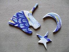 Unicorn Fantasy - whimsies, small bonus puzzle (pefkosmad) Tags: shapedpuzzle bonuspuzzle unicornfantasy whimsies figurals shapedpieces incomplete missingpieces jigsaw puzzle hobby pastime leisure masterpieces co