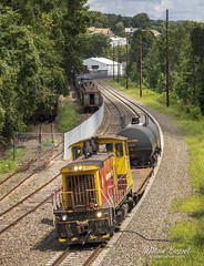NS-H02 heading west @ Boonton NJ (bozartproductions) Tags: morristown erie me morristownerie railroad boonton norfolk southern new jersey morris county pup switcher urhs line nsh02