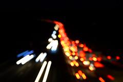 DSC_0855 (grebe.j) Tags: autobahn light licht twilight nacht red rot weis white unscharf contrast kontrast night verschwommen art 7dwf