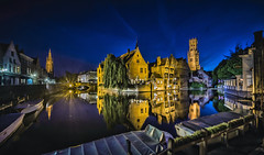 Classic Brugge (Wim van de Meerendonk, loving nature) Tags: brugge cityscape cities citiy belgium bluehour wimvandem water reflection canal canals monumental outdoors outdoor panorama sony scenic ultrawide vlaanderen greatphotographers golddragon